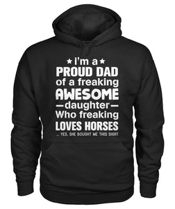 I'm a proud dad-love horses