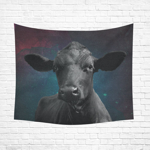 cow 19 Cotton Linen Wall Tapestry 60