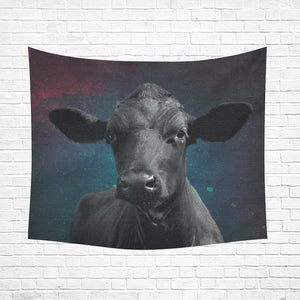 "cow 19 Cotton Linen Wall Tapestry 60""x 51"""