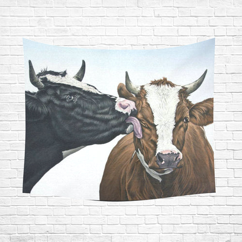 cow 09 Cotton Linen Wall Tapestry 60