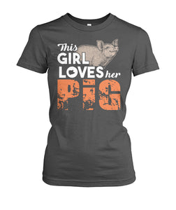 This girl loves her pigs - Barnsmile.com-Barnsmile.com-shirt, tees, clothings, accessories, shoes, home decor