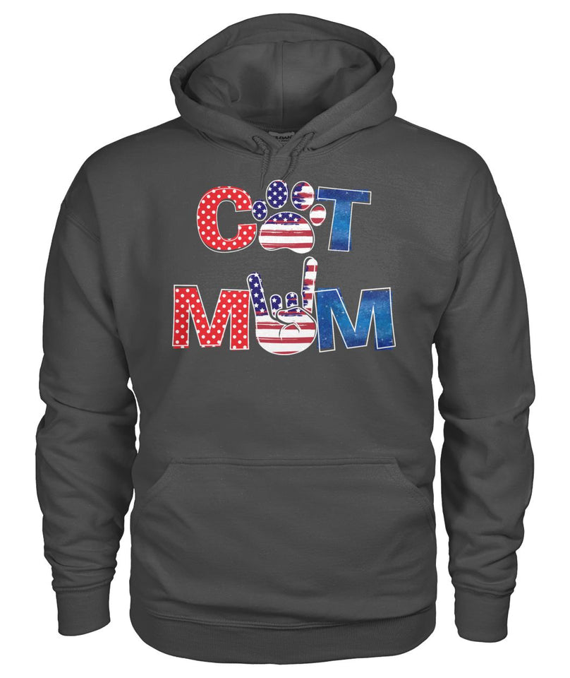 Cat Mom American flag