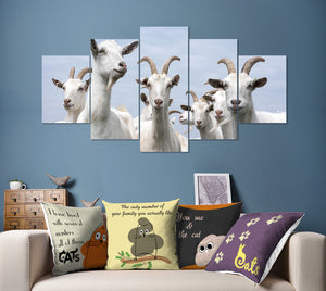 Wall Art 5pcs - Goat Lovers 01