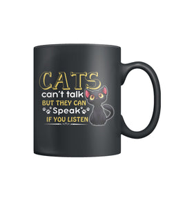 Cats can't talk but ...