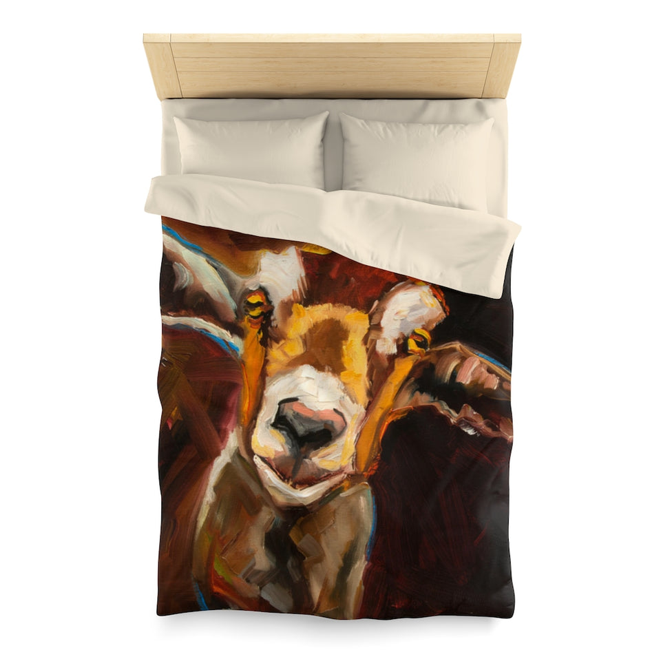 Microfiber Duvet Cover for Goat Lovers 01