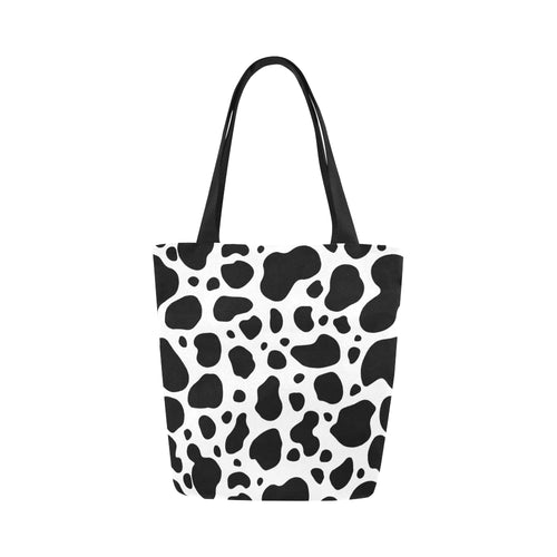 cow skin Canvas Tote Bag (Model 1657)