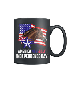 America 4th July Independence day Color Coffee Mug