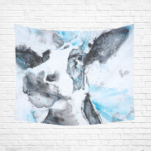 "cow 12 Cotton Linen Wall Tapestry 60""x 51"""