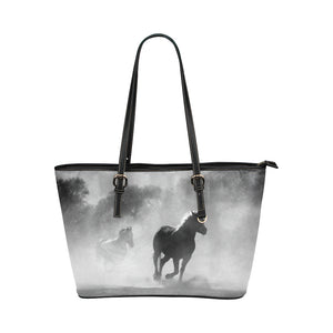 Horse 11 Leather Tote Bag/Small (Model 1651)