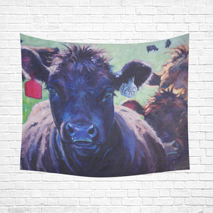 "cow 10 Cotton Linen Wall Tapestry 60""x 51"""