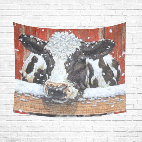cow 04 Cotton Linen Wall Tapestry 60
