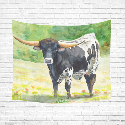cow 11 Cotton Linen Wall Tapestry 60