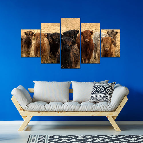 Wall Art 5pcs - Cow Lovers 08