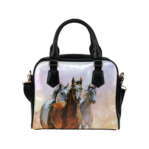 Horse 02 Shoulder Handbag (Model 1634)