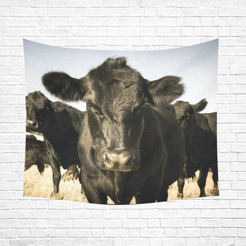 cow 23 Cotton Linen Wall Tapestry 60