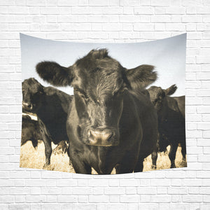 "cow 23 Cotton Linen Wall Tapestry 60""x 51"""