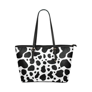 cow skin Leather Tote Bag/Small (Model 1651)