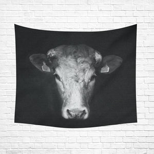 "cow 17 Cotton Linen Wall Tapestry 60""x 51"""