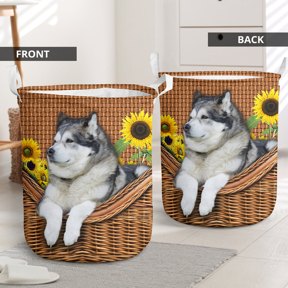 Alaskan Malamute Laundry Basket Funny Comfort Carry Women 3D Kitchen & Home All Over Print