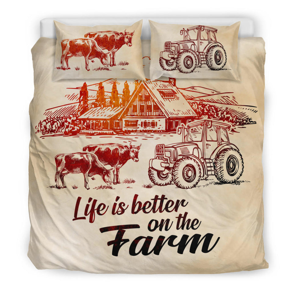 Life is better on the farm - bedding set