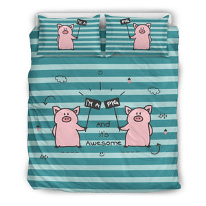 I'm a pig - Bedding set-Beige
