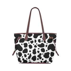 cow skin Clover Canvas Tote Bag (Model 1661)