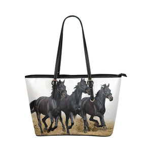 Horse 10 Leather Tote Bag/Small (Model 1651)