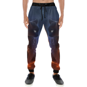cat Men's All Over Print Sweatpants (Model L11)