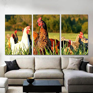 Wall art 3 pcs - Chicken Lovers 02