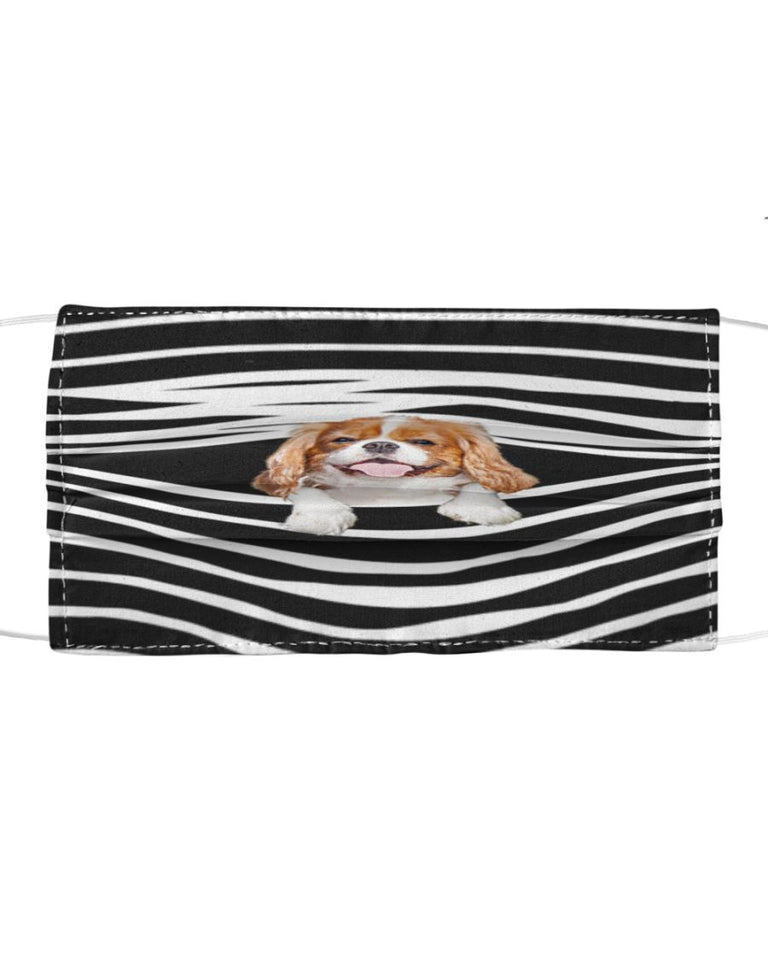 Cavalier King Charles Spaniel Face Cover 3D Men, Women Fashion Outdoor