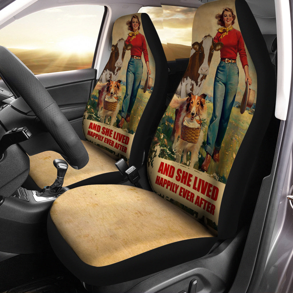 Clown Cow Dog Car Seat Covers