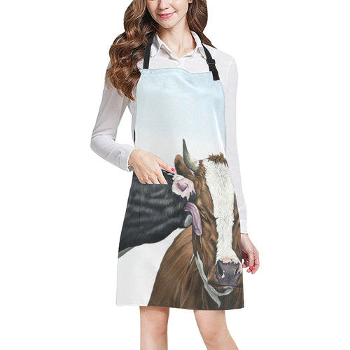 cow All Over Print Apron 32