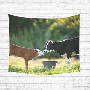 "cow 29 Cotton Linen Wall Tapestry 60""x 51"""