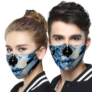 Diabetes Awareness Girl Lip Face Cover 3D Men, Women Fashion Outdoor