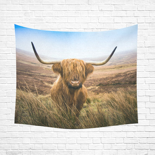cow 26 Cotton Linen Wall Tapestry 60