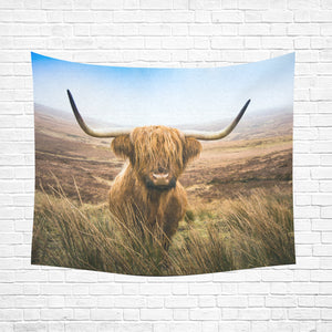 "cow 26 Cotton Linen Wall Tapestry 60""x 51"""