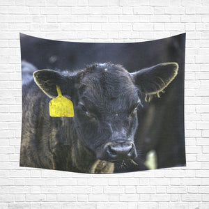 "cow 22 Cotton Linen Wall Tapestry 60""x 51"""