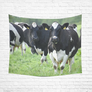 "cow 25 Cotton Linen Wall Tapestry 60""x 51"""