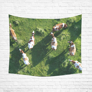 "cow 27 Cotton Linen Wall Tapestry 60""x 51"""
