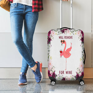 Flamingo Will Remove For Wine Camping Luggage Cover