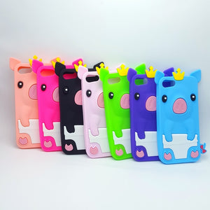 Soft Silicone Case for iPhone Cute 3D Pig Cover Skin for iPod Touch
