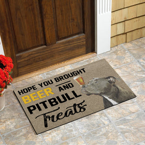 Pitbull Doormat Floor Mat Door Mat For Indoor Or Outdoor Use, Utility Mat For Entryway, Home Gym