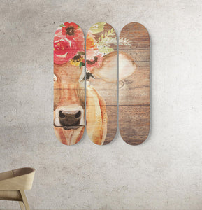 3 Skateboard Wall Art - cow 4