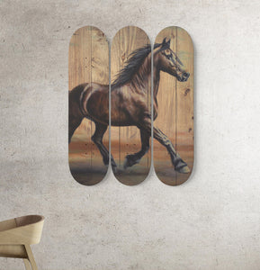 3 Skateboard Wall Art - Horse 05