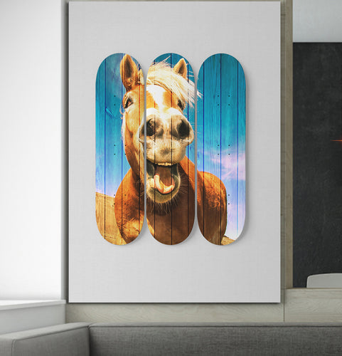 3 Skateboard Wall Art - Horse 07