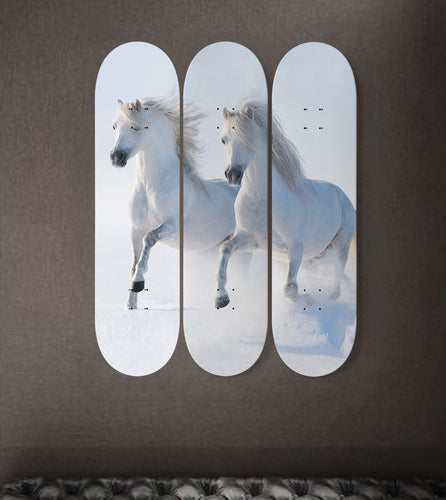 3 Skateboard Wall Art - Horse 04