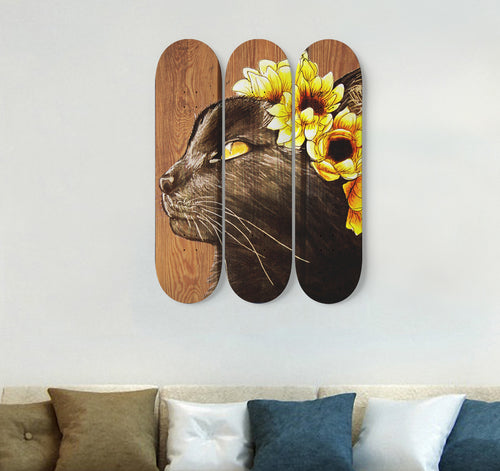 3 Skateboard Wall Art - Cat 02
