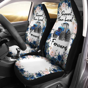 Support Your Local Farmers Car Seat Covers