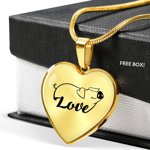 Love Pig - Necklace Gold & Silver