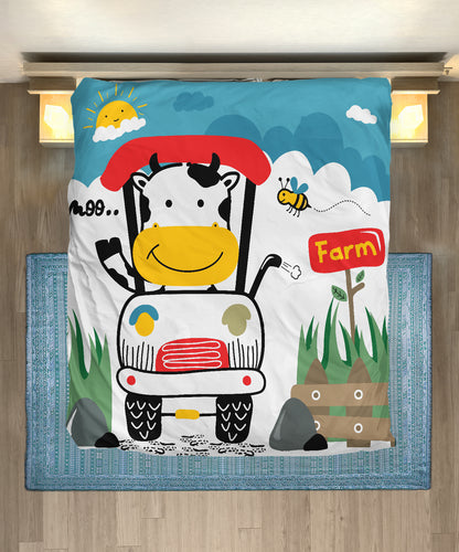 Microfiber Duvet Cover for Cow Lovers 08